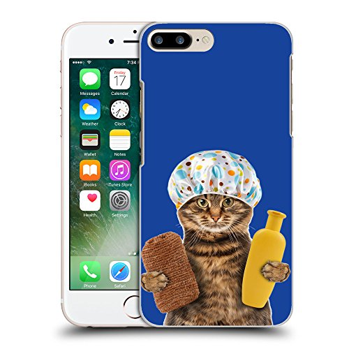GoGoMobile Coque de Protection TPU Silicone Case pour // Q05610613 Chat bain Blu // Apple iPhone 7 PLUS