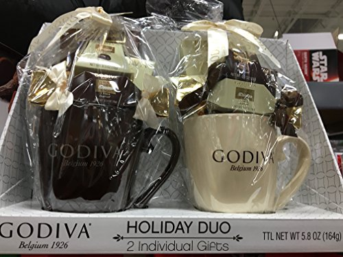 Godiva Holiday 5.8 oz colored gift cups (Black, White)