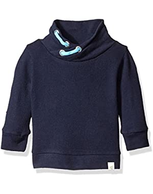 Boys' Organic Loose Pique Applique Sweatshirt