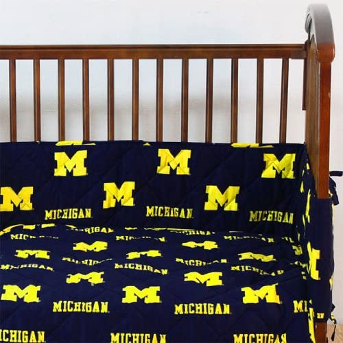 Michigan 5 pièces Baby Crib Set by College Covers by College Covers