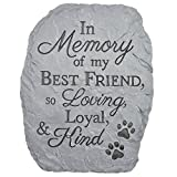 Carson Home Accents Resin Stepping Stone Plaque Memory Of Best Friend