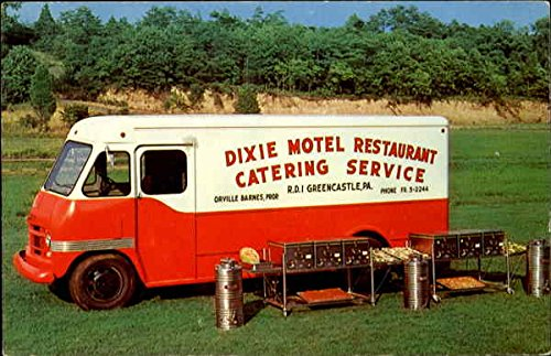The Dixie Motel Restaurant, R. D. 1 Food Truck Greencastle, Pennsylvania Original Vintage Postcard