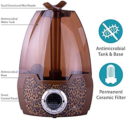 Air Innovations Clean Mist Digital Ultrasonic Humidifier Leopard