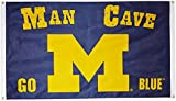 NCAA Michigan Wolverines Man Cave Flag with 4 Grommets, 3 x 5-Feet