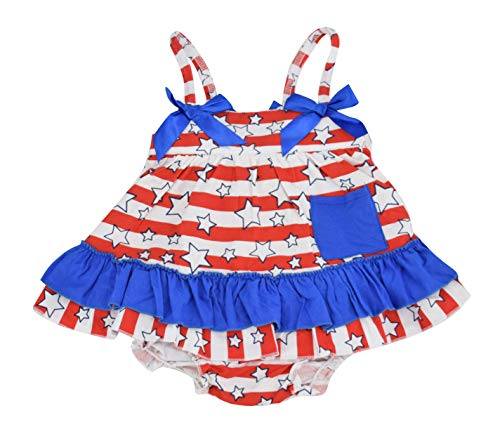 Unique Baby Girls 4th of July Baby Summer Swing Top