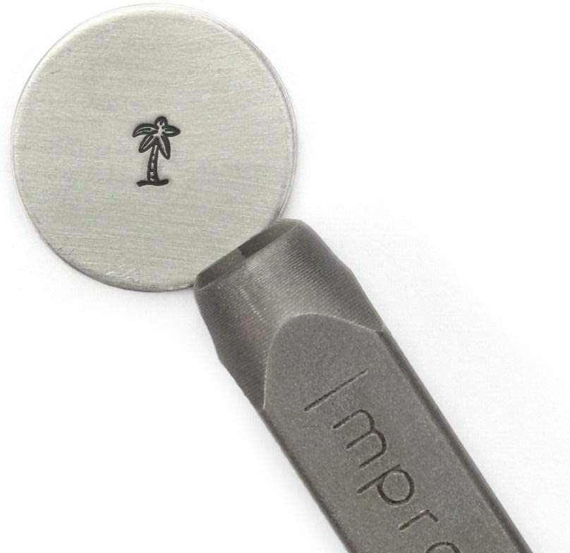 Palm Tree Signature Metal Design Stamp ImpressArt 6mm