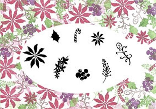 Card-io Card-Io Poinsettias and Peppermints Clear Peg Stamps by Card-io