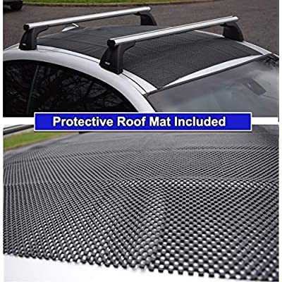 P.I. AUTO STORE ROOFMASTER Rooftop Cargo Carrier for All Cars & Automobiles with or Without Roof Rack. Unique Waterproof Design - 16 Cu ft Roof Bag. Includes Roof Top Mat: Automotive