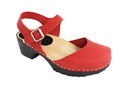 f540c08f5043 Lotta From Stockholm Soft Sole Red Täckt Clogs EUR 38