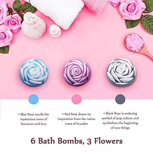 Amazon.com : Anjou Rose Bath Bombs Gift Set, with Red Rose, Blue ...