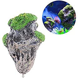 Oneoftheworld 1pc Rock Aquarium Decoration Ornament Fish Tank Pet Supplies Accessories (TypeM12)