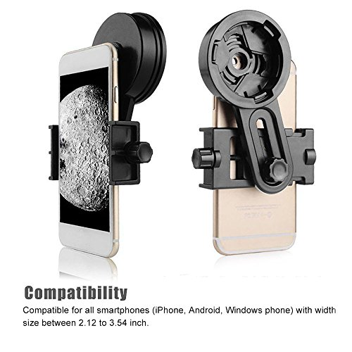 AYAMAYA Universal Smartphone Adapter Mount Telescope Connection Stand Holder Compatible with Binocular Monocular Spotting Scope Telescope and Microscope for Eyepiece Diameter 26mm to 46mm by AYAMAYA (Image #3)
