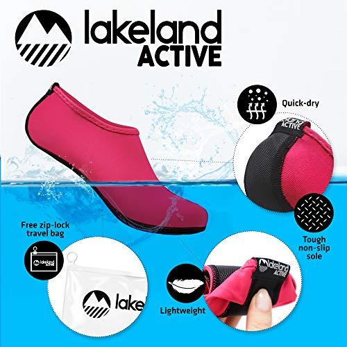 Sintético Negro Material Active Lakeland De Escarpines Para Hot Pink Mujer IR4H61