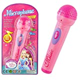 Aland-Fashion Girls Boys Microphone Mic Karaoke Singing Kids Funny Gift Music Toy - Pink