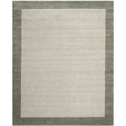 Safavieh Himalaya Collection HIM580B Handmade Light Grey and Dark Grey Premium Wool Area Rug (8′ x 10′)