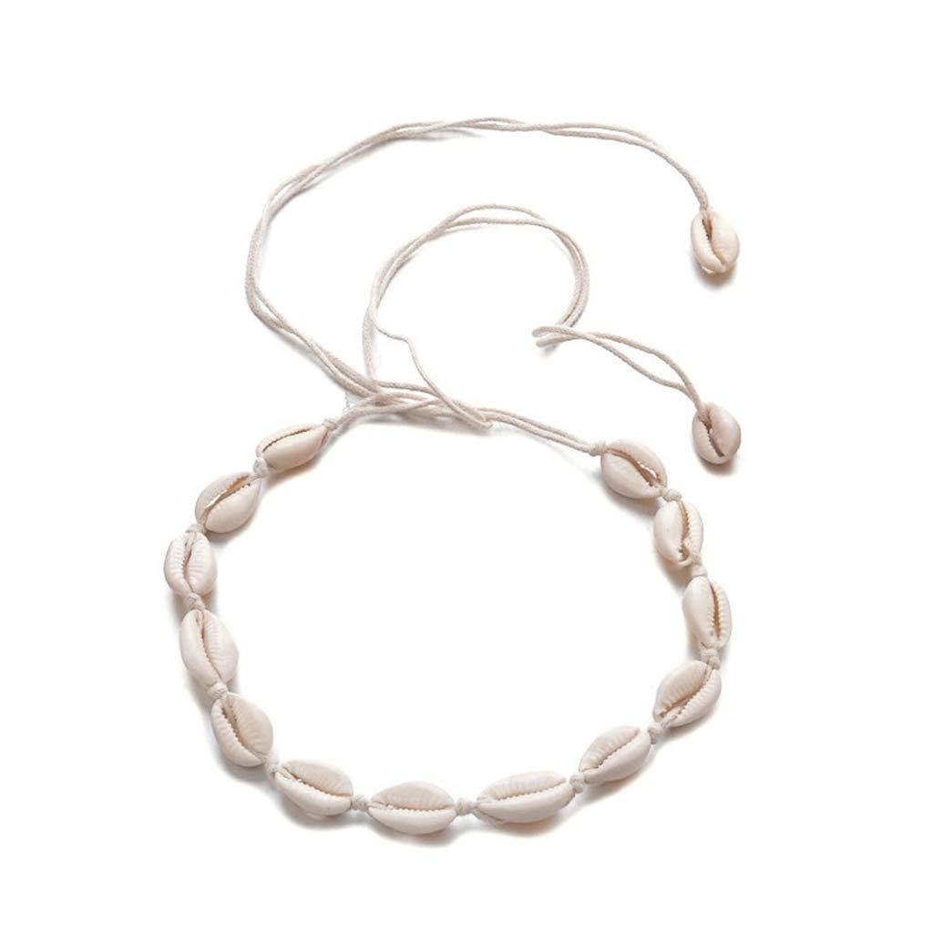 Fxikun Collier femme Ajustable Collier de coquillages Choker Cadeau pour femme//fille