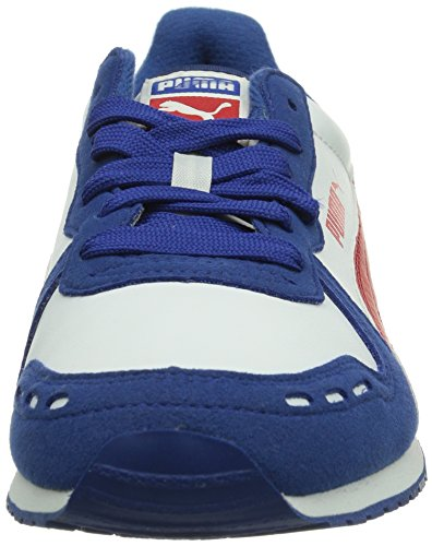 Puma Cabana Racer SL Jr Unisex-Kinder Sneakers Blau (limoges-white-high risk red 27)