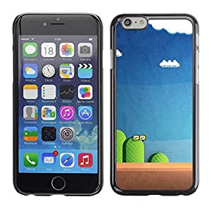 Plastic Shell Protective Case Cover || Apple iPhone 6 Plus 5.5 || Blue Pc Retro Blue @XPTECH