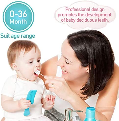 51VufYNgmJL. AC - Baby Toothbrush, Infant Toothbrush Clean Baby Gums Disposable Tongue Cleaner Gauze Toothbrush Infant Oral Cleaning Stick Dental Care For 0-36 Month Baby