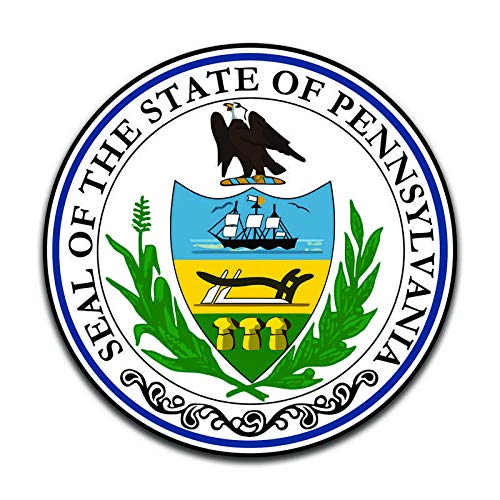 More Shiz Pennsylvania State Seal (2 Pack) Vinyl Decal Sticker - Car Truck Van SUV Window Wall Cup Laptop - Two 5 Inch Decals - MKS0925