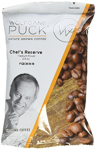 Wolfgang Puck Coffee, Chef's Reserve, 2.5 Ounce Portion Packs, 18 Count