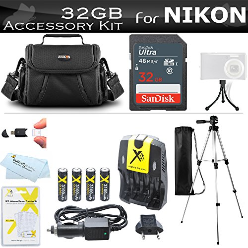 32GB Accessory Kit For Nikon Coolpix B500, L330, L340, L810