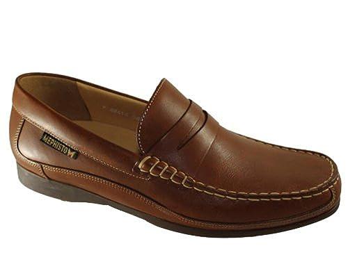 Mephisto - Mocasines de cuero para hombre marrón marrón 40 FR: Amazon.es: Zapatos y complementos