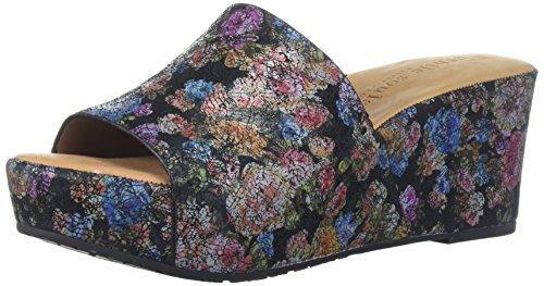 Sandali Da Scivolo Per Donna Sandali Morbidi Sandalo Nero / Fiore