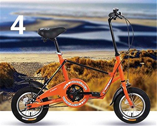 12インチ 折りたたみ自転車 折畳自転車 おりたたみ自転車 街乗り 通勤 通学 MTB おりたたみ自転車 W648 B00QA1613S オレンジ オレンジ