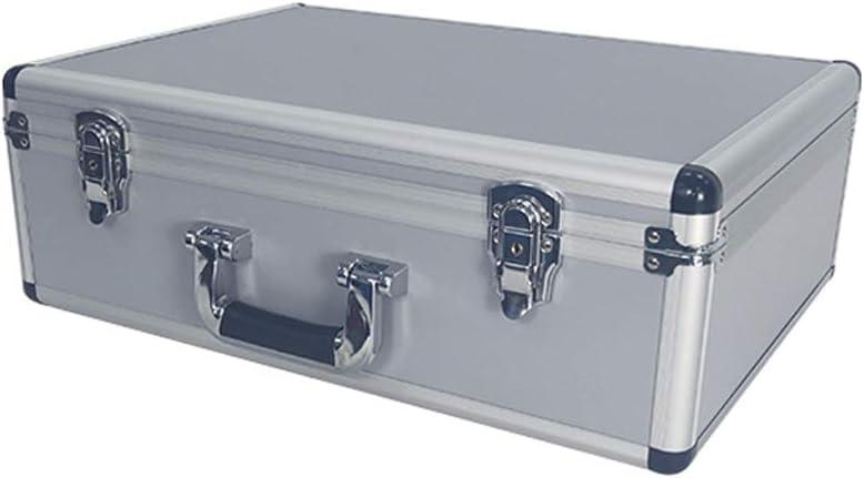 Caja De Herramientas De Aluminio De Vuelo Con Cerradura Caja Segura Con Espuma Y Caja De Almacenamiento Portátil Con Cerradura: Amazon.es: Hogar