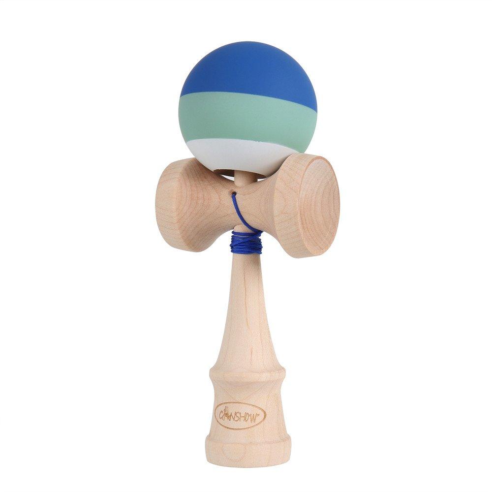 Rubber Paint Maple Wood Juego de regalo para ni/ño adulto Modelo Pro con cadena extra CANSHOW Kendama azul