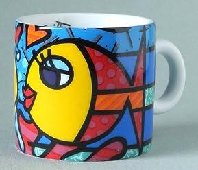 ROMERO BRITTO Mini Mug Espresso Cup Deeply in Love - Pop Art from Miami