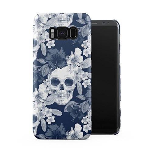 Tropical Floral Pirate Skulls Pattern Indie Hype Hipster Rad Tumblr Plastic Phone Snap On Back Case Cover Shell for Samsung Galaxy S8 Plus