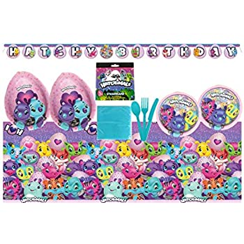 Hatchimals Birthday Party Supplies Bundle Set For 16 Guests