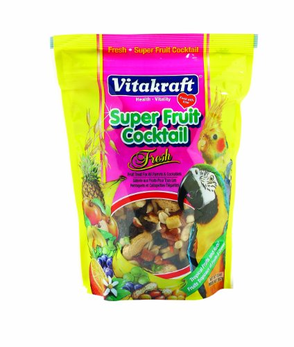 Foods Cocktail (Vitakraft Super Fruit Cocktail Treat for All Parrots & Cockatiels, 20 Ounce Pouch)