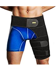 Groin Support Wrap, Yosoo Adjustable Neoprene Strained Groin Brace Wrap with Waist Support for Sciatic Nerve Pain Thigh Hamstring Injury and Recovery hamstring support groin wrap groin strain pain support hip brace for men