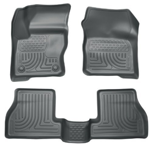 Husky Liners Custom Fit WeatherBeater Molded Front and Second Seat Floor Liner Set for Select Ford Focus Models (Grey) by Husky Liners (Gray Weatherbeater Floorliner)