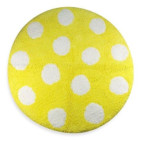 Polly Polka Dot Yellow 2-Foot Round Bath