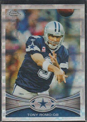 (2012 Topps Chrome Refractor Tony Romo Cowboys Insert Football Card #63)