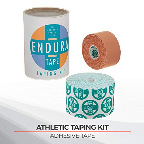 Sammons Preston Endura-Tape Taping Kit, Prewrap Athletic Tape for Sports, Waterproof KT Tape, Rigid Kinesiology Tape for Muscles, White Cloth K Tape, Latex Free Kinesio Tape, Support & Recovery Tape from Sammons Preston