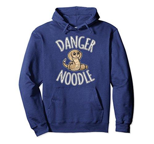 Unisex Danger Noodle Hoodie - Cute Snake Pullover Hoodie Small Navy (Snake Hoodie)