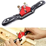 Swpeet 10'' Adjustable SpokeShave with Flat Base, Metal Blade Wood Working Hand Tool Perfect for Wood Craft, Wood Craver, Wood Working