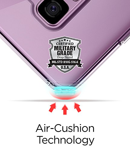 Spigen Ultra Hybrid Galaxy S9 Plus Case with Air Cushion Technology and Clear Hybrid Drop Protection for Samsung Galaxy S9 Plus (2018) - Crystal Clear by Spigen (Image #3)