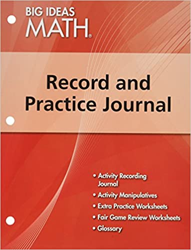 BIG IDEAS MATH: Record & Practice Journal Red/Course 2: HOLT ...