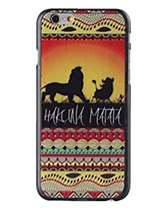 Hot Sale Customized Hakuna Matata on Sunset Lion King Hard Back Case Cover for iPhone 6 by runtopwell