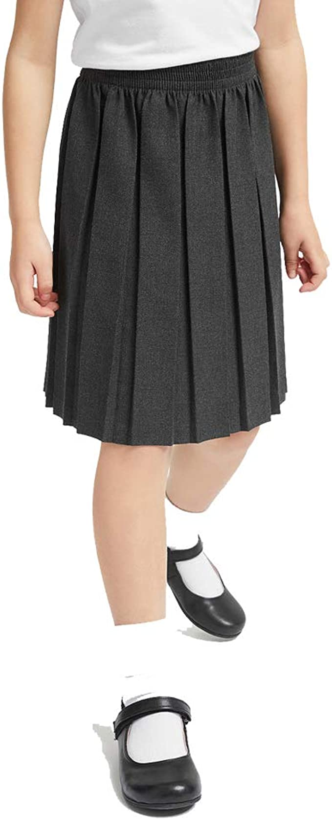 Owasi - Falda Plisada para Colegio, Lisa, Uniforme Senior, Cintura ...