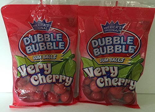 Dubble Bubble Very Cherry Gum Balls 4 Oz Bag (2 Pack - 8 Ounces Total) (Very Cherry Bubble)