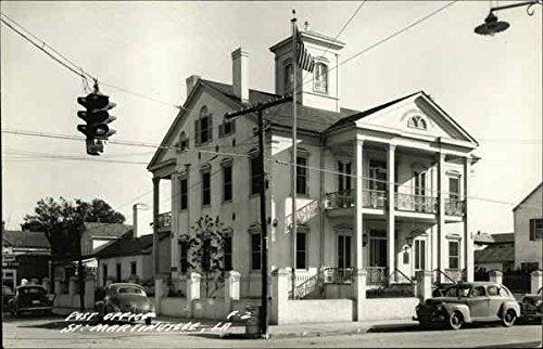 - Post Office Saint Martinville, Louisiana Original Vintage Postcard