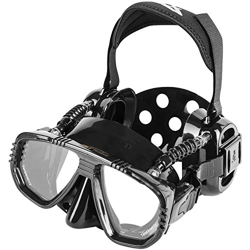 Pro Ear Scuba (Pro Ear Scuba Diving Mask for all around Ear Protection - All Black Scuba Div...)