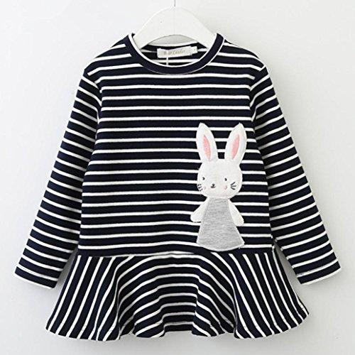 f2816c4c4 Delicado Ropa Bebé Niña, K-youth® Vestido de Niña Rayas Conejo Vestido de